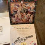 ミラコスタでもらったお誕生日カード&ミッキーとミニーから留守番電話にお祝いメッセージが入っててビックリしたよ~~≪2019年3月☆旅行記1日目≫